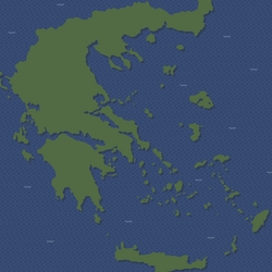 Greece: Greece Map 12 x 12 Paper