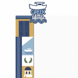 Greece: Greek Islands 2 Piece Laser Die Cut Kit