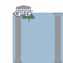 Greece: Greek Temple 2 Piece Laser Die Cut Kit