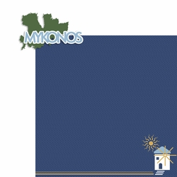 Greece: Mykonos 2 Piece Laser Die Cut Kit