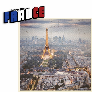 Greetings From: France 2 Piece Laser Die Cut Kit