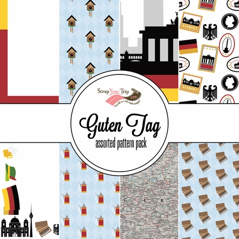 Guten Tag  Assorted 12 x 12 Paper Pack