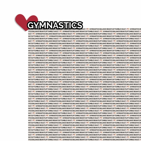 Gymnastics: Love Gymnastics 2 Piece Laser Die Cut Kit