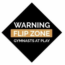 Gymnastics: Warning Flip Laser Die Cut