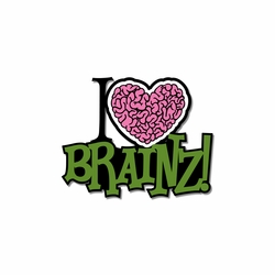 Halloween: Brainz Print and Cut Laser Die Cut