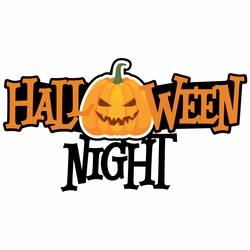 Halloween: Halloween Night Print and Cut Laser Die Cut