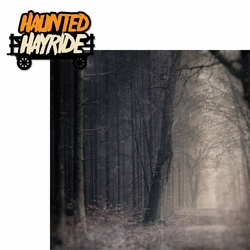 Halloween Horror: Haunted Hayride 2 Piece Laser Die Cut