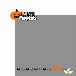 Halloween Night: Carving Pumpkins 2 Piece Laser Die Cut Kit