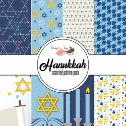 Hanukkah Assorted 12 x 12 Paper Pack