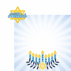 Hanukkah: Happy Hanukkah 2 Piece Laser Die Cut Kit