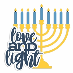 Hanukkah: Love and Light Laser Die Cut