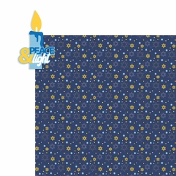 Hanukkah: Peace and Light 2 Piece Laser Die Cut Kit