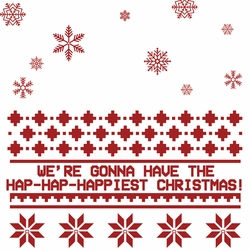Hap-Hap-Happiest Christmas 12 x 12 Paper