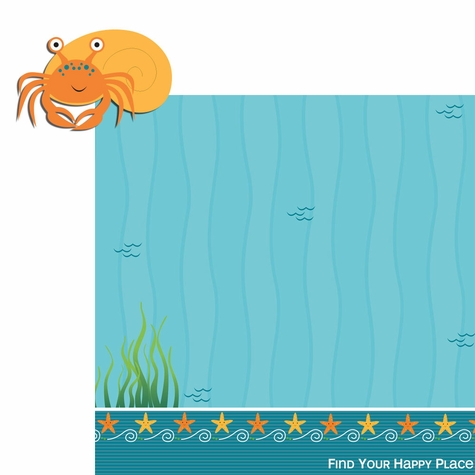 Happy Beach: Crab 2 Piece Laser Die Cut Kit