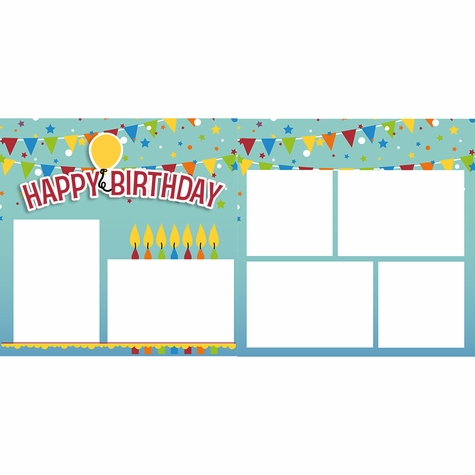 Happy Birthday 2 Page Layout Kit
