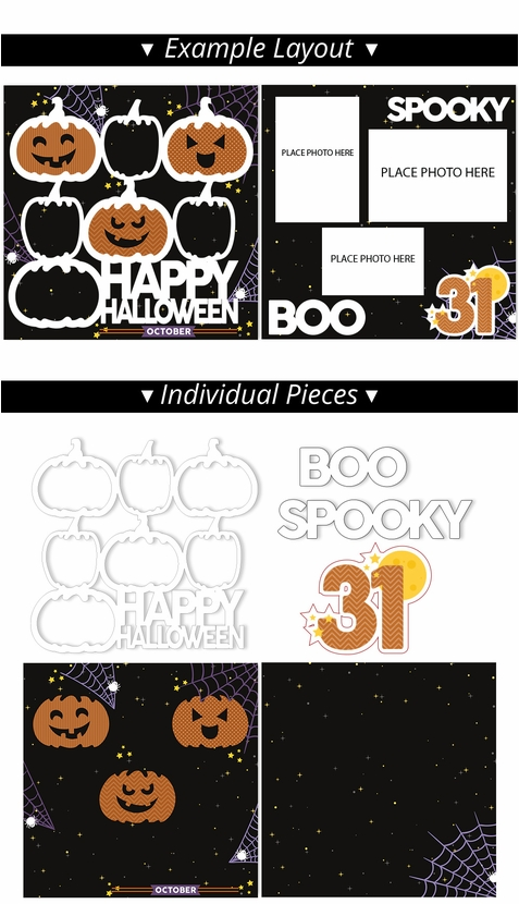 Happy Halloween 2 Page Print and Cut