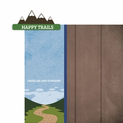 Happy Trails 2 Piece Laser Die Cut Kit