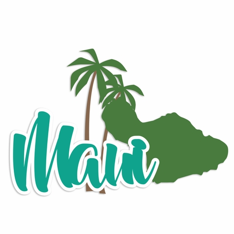 Hawaii: Maui Laser Die Cut