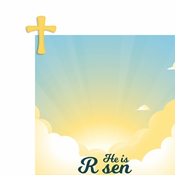 He is Risen 2 Piece Laser Die Cut Kit