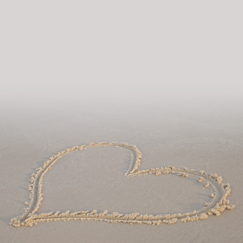 Heart In Sand 12 x 12 Paper