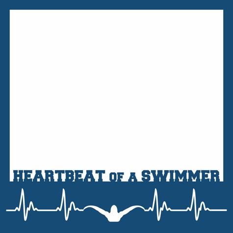 Heartbeat Of A Swimmer 12 x 12 Overlay Laser Die Cut