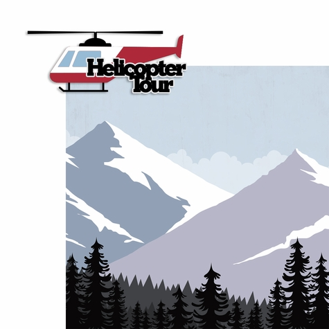 Helicopter Tour 2 Piece Laser Die Cut Kit