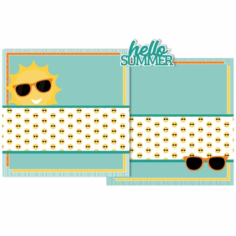Hello Summer Double Page Layout Kit