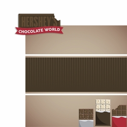 Hershey: Chocolate World 2 Piece Laser Die Cut Kit