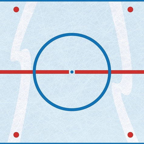 Hockey: Face Off 12 x 12 Paper