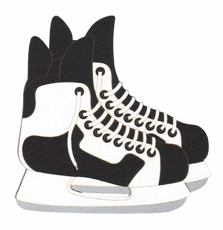 Hockey Skates Laser Die Cut