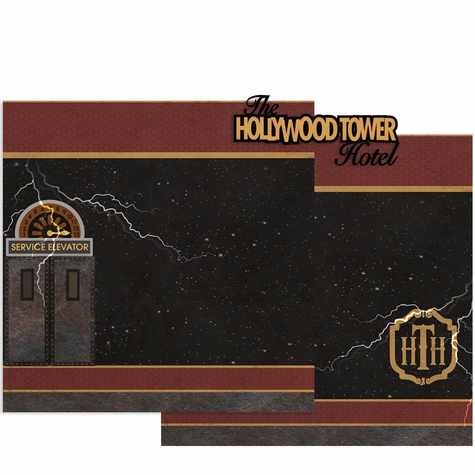 Hollywood Hotel Double Page Layout Kit