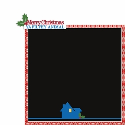Home Alone: Merry Christmas Filthy Animal 2 Piece Laser Die Cut Kit