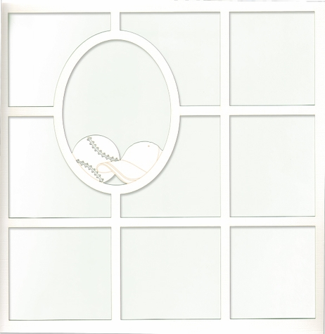 Home Run: Ball and Hat 12 x 12 Overlay Laser Die Cut