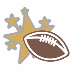 Homecoming:: Football and Stars Laser Die Cut