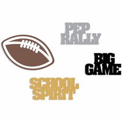 Homecoming:: Words and Football embellishment pack