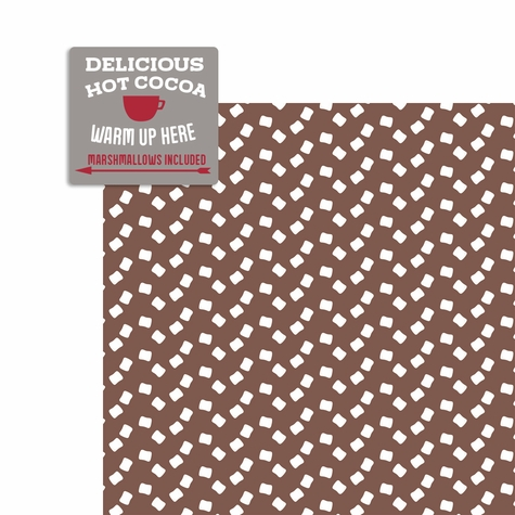 Hot Cocoa: Delicious Cocoa 2 Piece Laser Die Cut Kit
