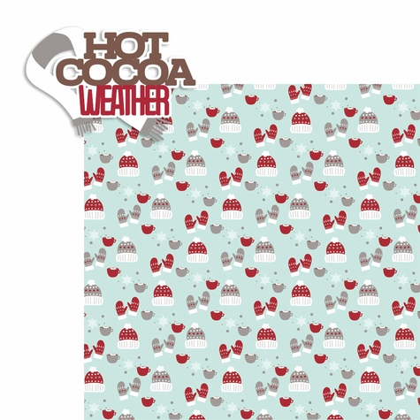 Hot Cocoa: Hot Cocoa Weather 2 Piece Laser Die Cut Kit