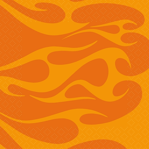 Hot Wheels: Orange Flames 12 x 12 Paper