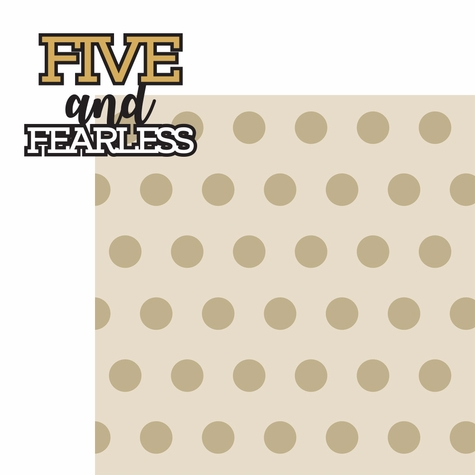 How Old: Five and Fearless 2 Piece Laser Die Cut Kit
