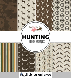 Hunting Assorted 12 x 12 Paper Pack
