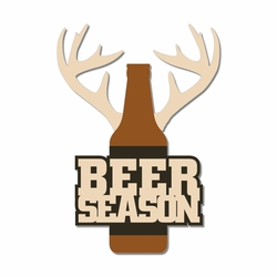 Hunting: Beer Season Laser Die Cut