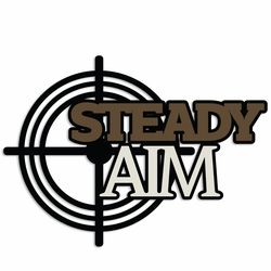 Hunting: Steady Aim Laser Die Cut