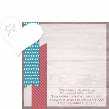 In Memory: Dogs In Our Lives 2 Piece Laser Die Cut Kit