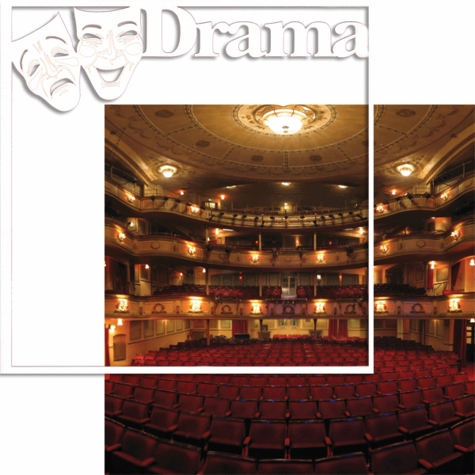 In The Spotlight: Drama 12 x 12 Overlay Quick Page Laser Die Cut