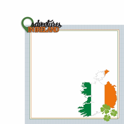 Ireland: Adventures In 2 Piece Print and Cut Kit