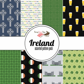 Ireland Assorted 12 x 12 Paper Pack