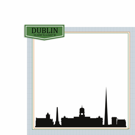 Ireland: Dublin 2 Piece Print and Cut Kit