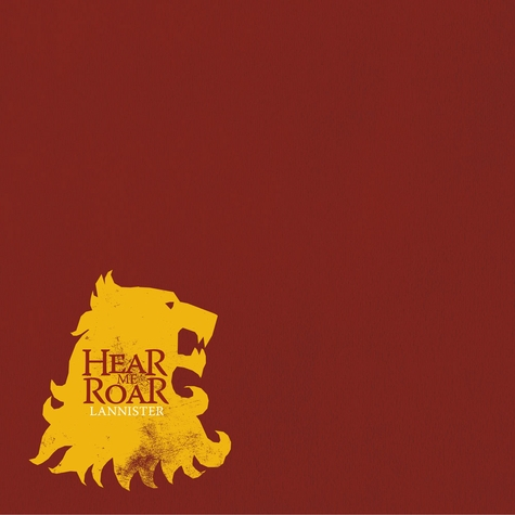 Iron Throne: Lannister 12 x 12 Paper