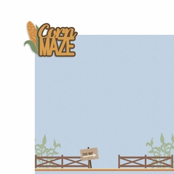 It's Finally Fall: Corn Maze 2 Piece Laser Die Cut Kit