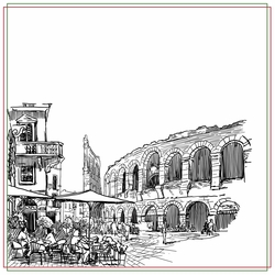 Italy: Caf� 12 x 12 Paper